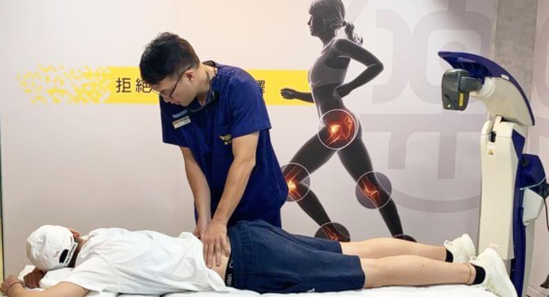 女籃國手王維琳接受用立適除痛機器人治療腰痛