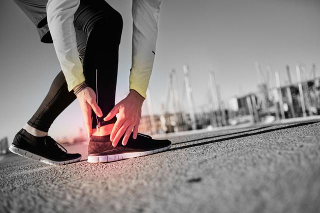 慢跑者足踝疼痛
